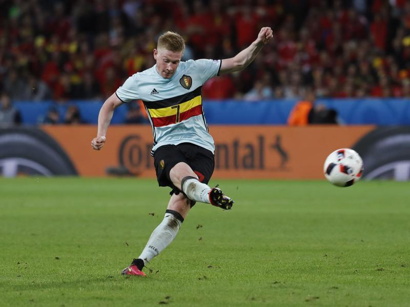Belgium's Kevin De Bruyne during their match against Wales.  (Reuters Photo)