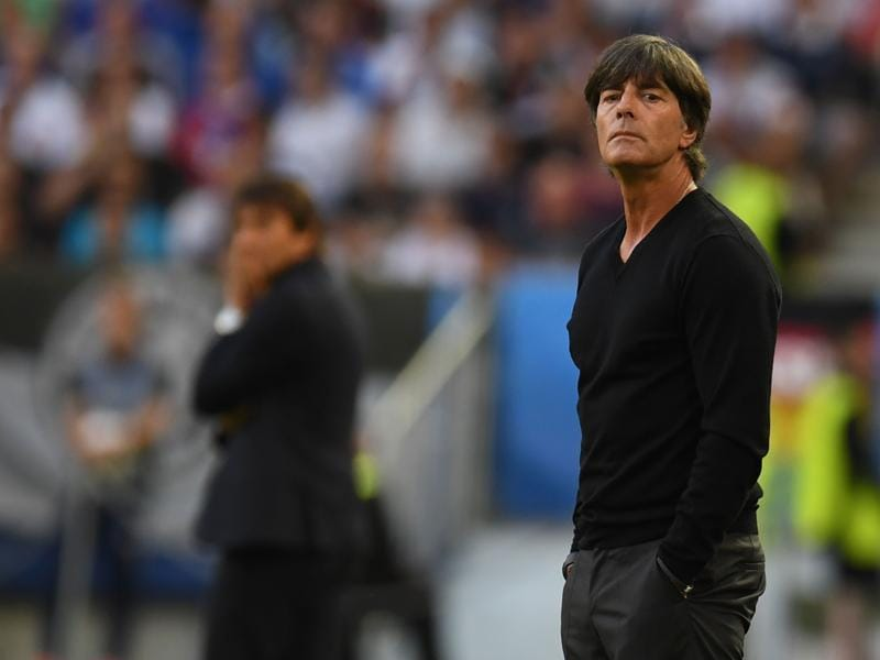 Germany's coach Joachim Loew looks on during the Euro 2016 quarterfinal football match against Italy. (AFP Photo)