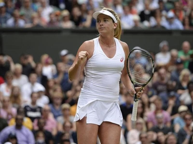USA's Coco Vandeweghe celebrates winning her match against Italy's Roberta Vinci. (Reuters)