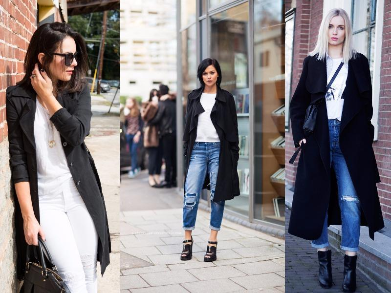 Go classic with an all-white or white top-blue jeans look, topped with a classic trench. On drizzling days, opt for loafers that won't be ruined by a few drops of rain. (Pinterest)