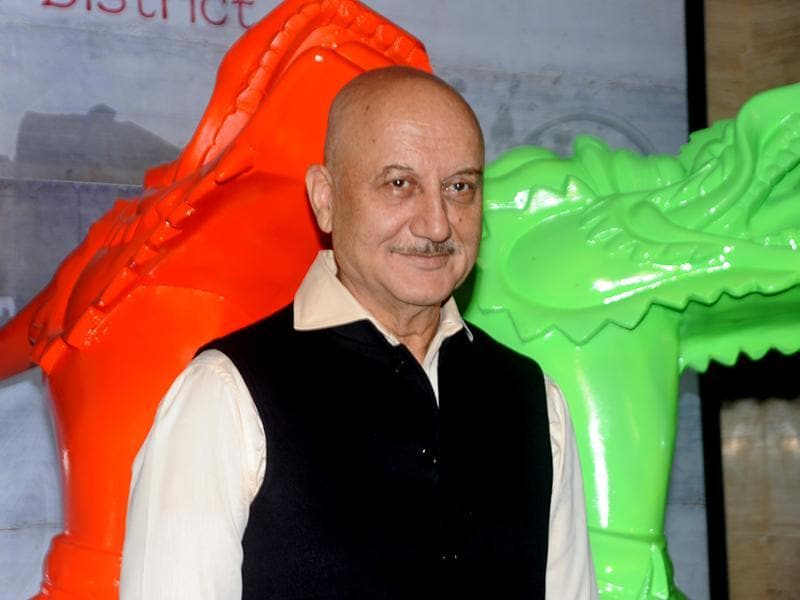 Anupam Kher attended a party for the inauguration of a restaurant in Mumbai. (AFP)