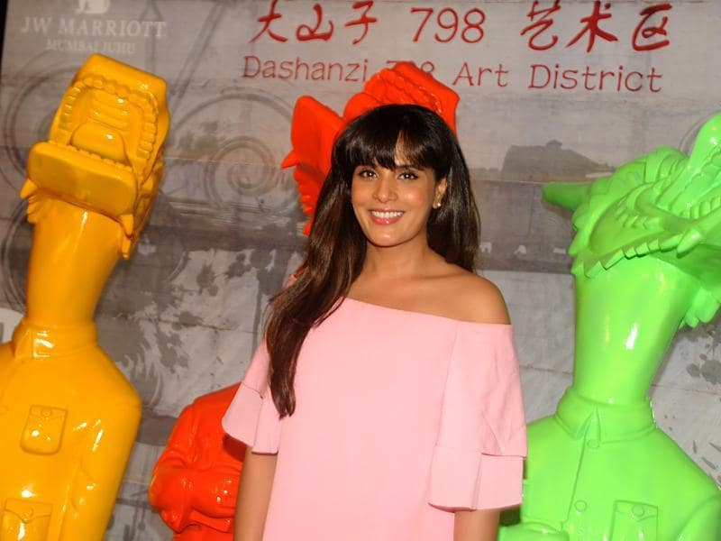 Richa Chadda attends a party for a newly-opened restaurant in Mumbai. (AFP)
