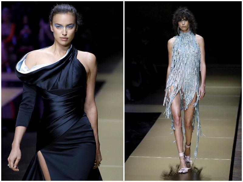 Atelier Versace: Sensuality, style and glamour were the watchwords for this collection, which stood out with its retro silhouettes. Atelier Versace used plenty of draping, ramping up glamour and femininity to the max. (AFP)