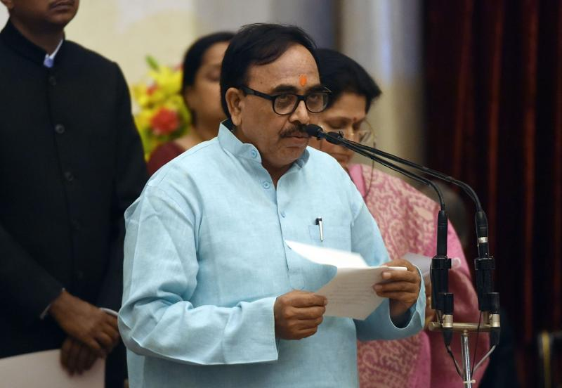 Bharatiya Janata Party (BJP) politician, Mahendra Nath Pandey as minister of state. (AFP)