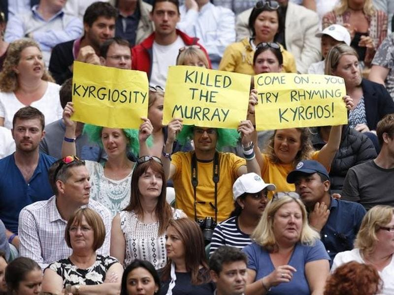 Fans of Australia's Nick Kyrgios during his match against Andy Murray. (Reuters Photo)