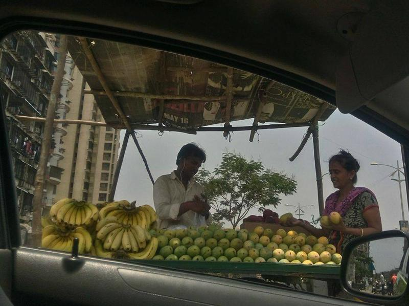 """If you ever think something is impossible, please observe your mother bargaining with the fruit seller."" — Navi Mumbai  (Photo: Shyam Nair)"
