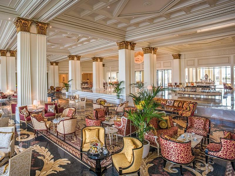 Billed as the Middle East's most luxurious hotel, the Palazzo Versace Dubai is meant to look like an Italian palace (pictured here is the hotel lobby).  (Palazzo Versace)