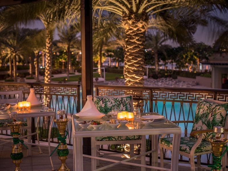 Nestled in the east wing of the hotel, facing the Ischia pool, lies Gazebo, a shisha lounge where you can sample a selection of Moroccan, Turkish and Lebanese mezze in the outdoors or simply enjoy your favourite shisha overlooking the unobstructed views of the Dubai Creek. (Palazzo Versace)