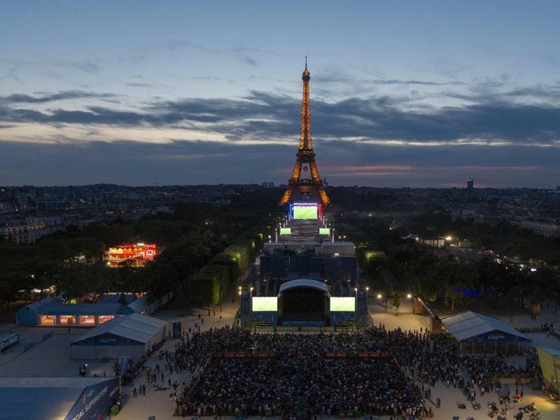 A general view of the Champ de Mars fan zone in Paris. (AFP Photo)