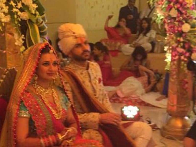 Popular TV co-stars Divyanka and Vivek are now husband and wife in real life. (SnehalSahay/Facebook)
