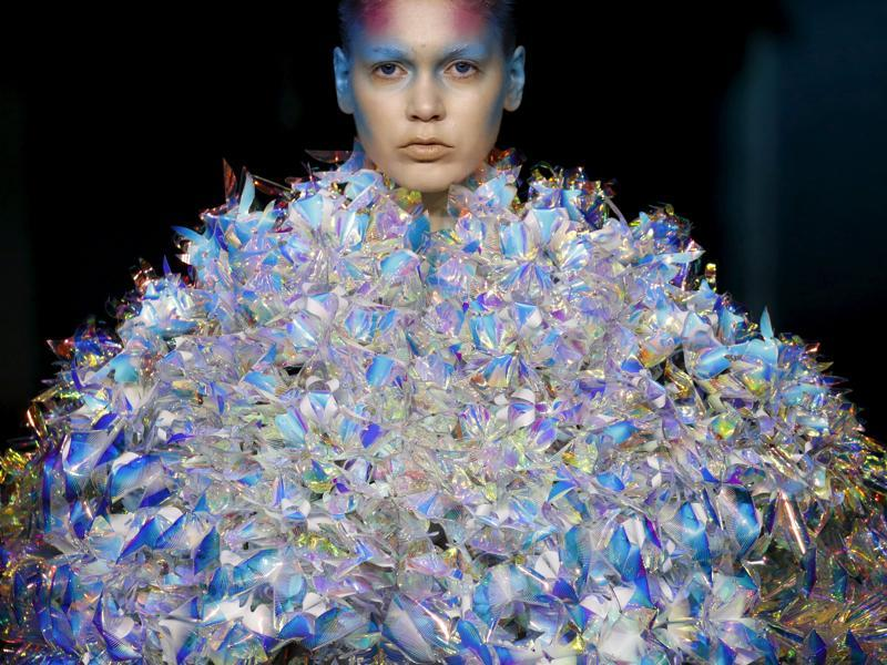 Here's a look at some of the craziest creations from the latest round of haute couture shows.   Starting with Yuima Nakazato. The Japanese designer stood out during the week of autumn/winter shows with pieces created using new technologies such as 3D printing. The collection had a futuristic vibe with creations that sparkled and shone. (AFP)