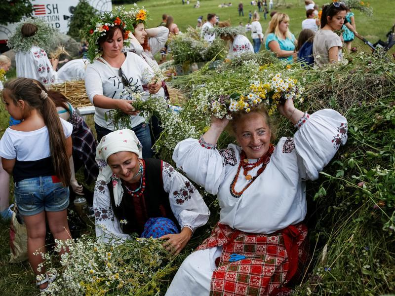 Kupala, the Slavic word for bathing has, over the years, come to be reintrepreted as John's baptizing people. (REUTERS)