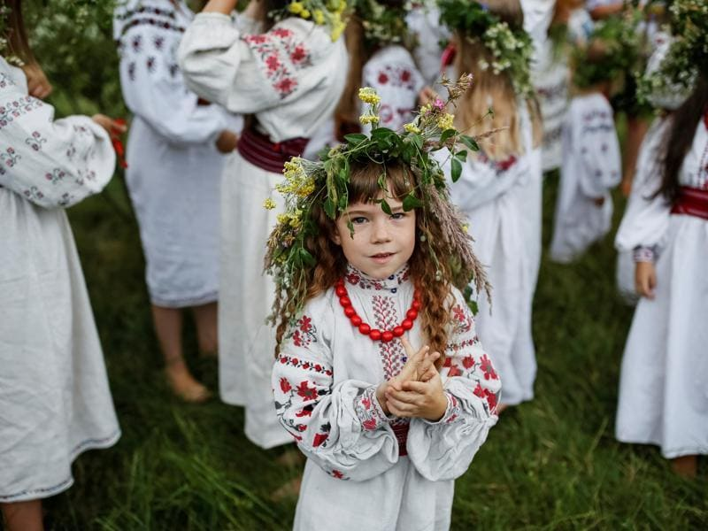 The festival is celebrated in Ukraine, Belarus, Poland and Russia currently on the night of 6/7 July in the Gregorian calendar. (REUTERS)