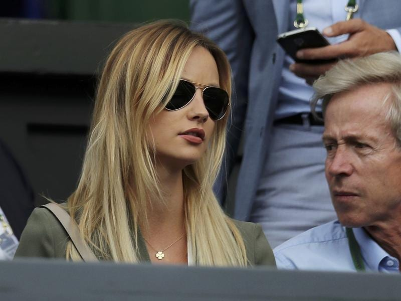 Czech Republic's Tomas Berdych's wife Ester Satorova before the start of his match against Great Britain's Andy Murray. (REUTERS)
