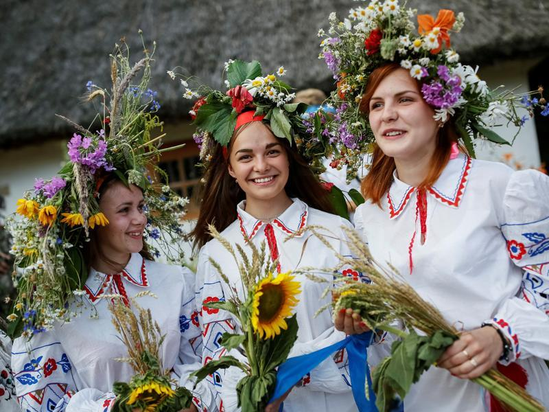 The ancient tradition, originating from pagan times, is usually marked with grand overnight festivities during which people sing and dance around campfires, believing it will purge them of their sins and make them healthier. (REUTERS)