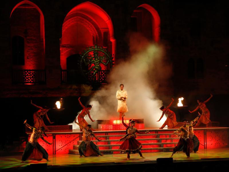 The Merchants of Bollywood was performed at the Beiteddine Palace in Lebanon's Chouf moutains during the Beiteddine International Festival on July 8, 2016.  (AFP)