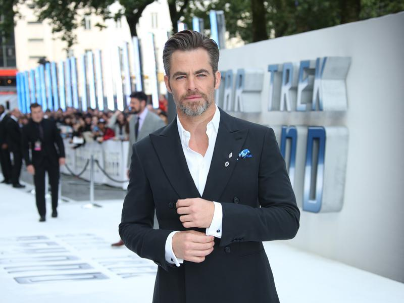 Actor Chris Pine, who plays Captain James T Kirk in the rebooted Star Trek series poses for photographers upon arrival at the premiere of the film Star Trek Beyond in London. (Joel Ryan/Invision/AP)