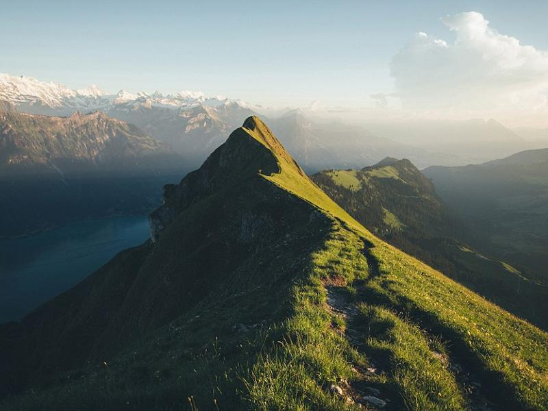 Ernst's shot of this grassy ridge line in Switzerland, which he took on a roadtrip around the country, received over 33,000 likes on Instagram. (Instagram)