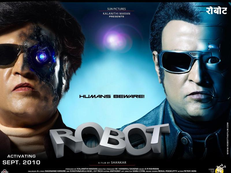 Come Friday, Rajinikanth's ambitious new film, Kabali, will hit the screens. The actor is looking to reinvent himself after two successive flops. Here's a look at his different looks over the years. Enthiran (2010) saw Rajinikanth play a robot and a scientist. Check out the actor -- all metal and emotionless.