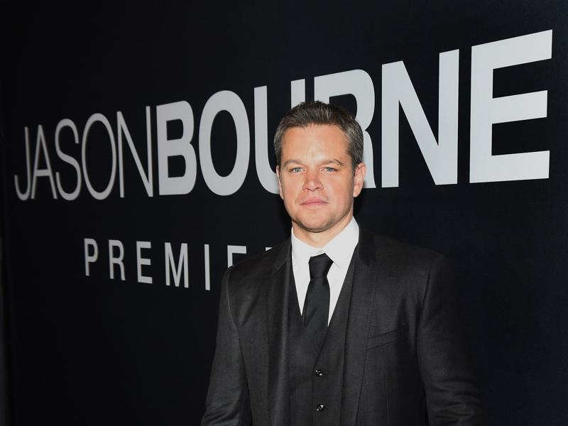 Actor Matt Damon attends the premiere of Universal Pictures' Jason Bourne at The Colosseum at Caesars Palace. (AFP)