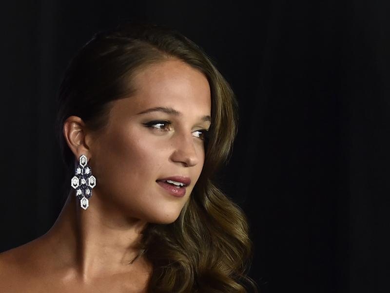 Alicia Vikander, who plays a CIA agent in the new Jason Bourne movie, attends the premiere in Las Vegas. (AFP)