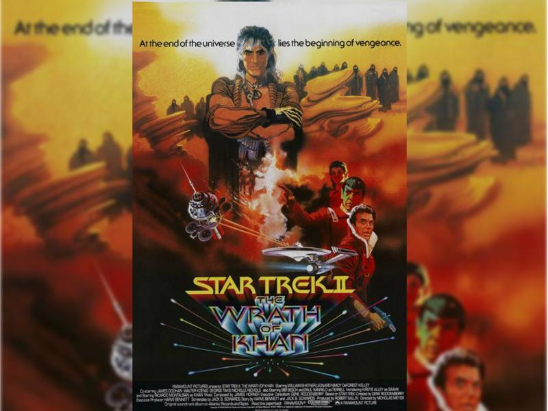 Star Trek II: The Wrath of Khan (1982) - With the assistance of the Enterprise crew, Admiral Kirk must stop an old nemesis, Khan Noonien Singh, from using the life-generating Genesis Device as the ultimate weapon. (Paramount Pictures)