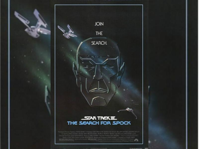 Star Trek III: The Search for Spock (1984) - Admiral Kirk and his bridge crew risk their careers stealing the decommissioned Enterprise to return to the restricted Genesis planet to recover Spock's body. (Paramount Pictures)