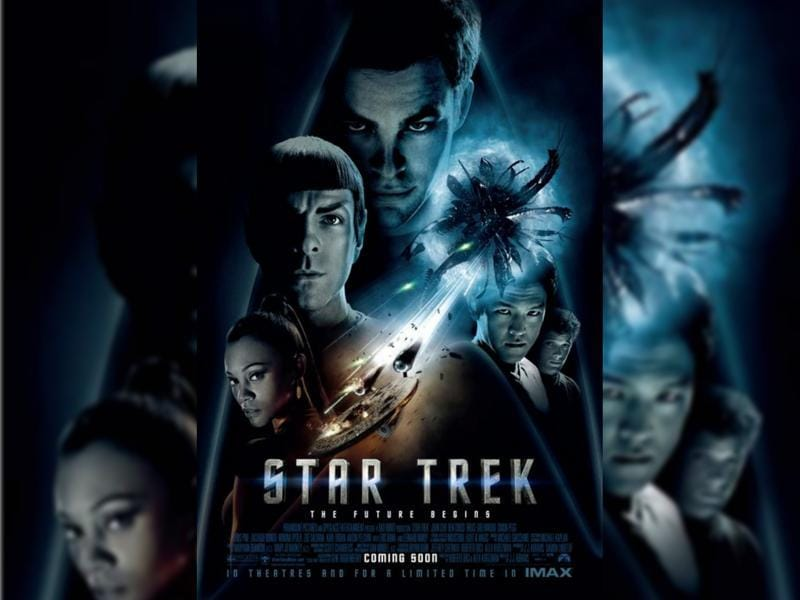 Star Trek (2009) - The brash James T Kirk tries to live up to his father's legacy with Commander Spock keeping him in check as a vengeful, time-traveling Romulan creates black holes to destroy the Federation one planet at a time. (Paramount Pictures)