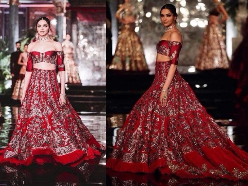 The wedding gown/ lehenga at Manish Malhotra is always one of the most magical moments in couture. And Deepika was nothing less than dreamy as the showstopper. (Instagram)