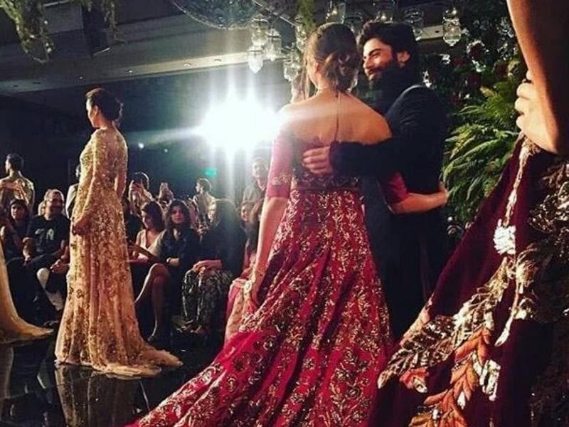 Dozens of gorgeous lehengas and gowns paraded down the runways at designer Manish Malhotra's opening show, The Persian Story, at India Couture Week 2016 in New Delhi on Wednesday. But we could not get enough of the two good-looking actors.  (Instagram)