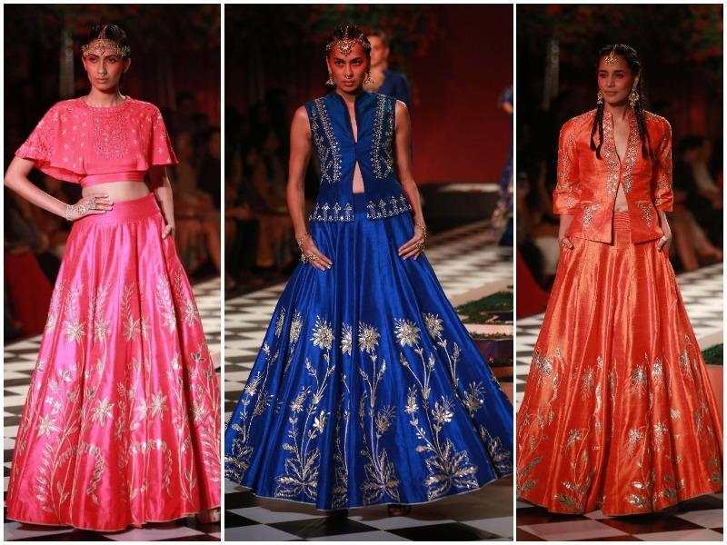 For all those brides and grooms sifting through designer lookbooks, some more inspiration is coming your way via Day 2 of India Couture Week 2016. While designer Manish Malhotra opened the fashion gala, designers Anita Dongre and Tarun Tahiliani gave us wedding fashion goals for the season with Thursday's shows.  (Amal KS/ HT Photo)