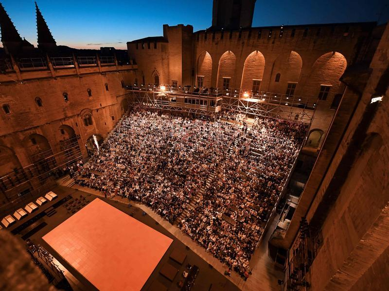 One of the world's greatest arts and culture festival, the Festival d'Avignon is organised in the French city of Avignon every year. Celebrating its 70th edition this year, it opened on July 6 and will continue till July 24. This image shows the people who had attended 'The Damned,' a play by Luchino Viscontion July 6. (AFP)