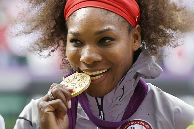 Now into her thirties, Serena Williams shows no sign of letting up – stating the day after winning singles gold that London would not be her Olympic swansong. (AP Photo)