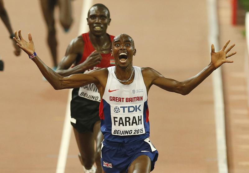 Long distance running, a discipline dominated for so many years by African athletes, has not had the highest of profiles in Britain. But all that changed at London 2012 when Mo Farah became the first Briton to win both the 5,000m and 10,000m. (AP Photo)