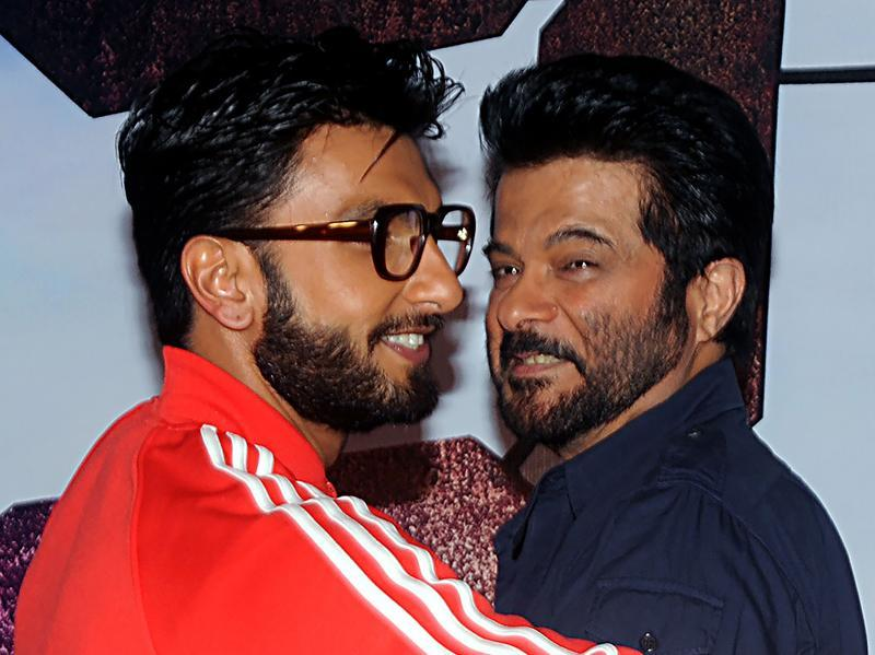 Did somebody just say brothers? Well, actually that's nephew Ranveer Singh with his uncle, Anil Kapoor. (AFP)