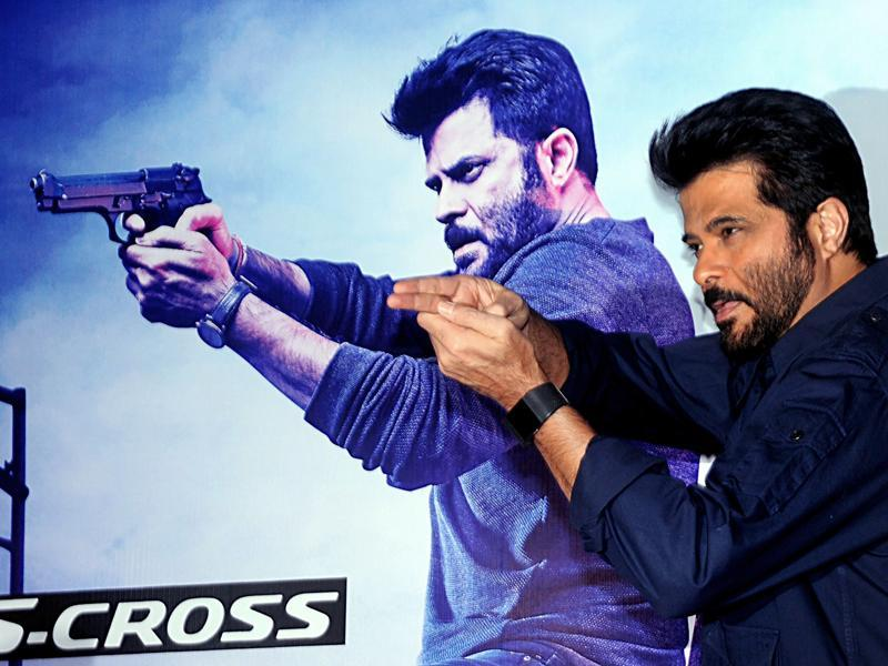 Actor Anil Kapoor poses at the screening. (AFP)