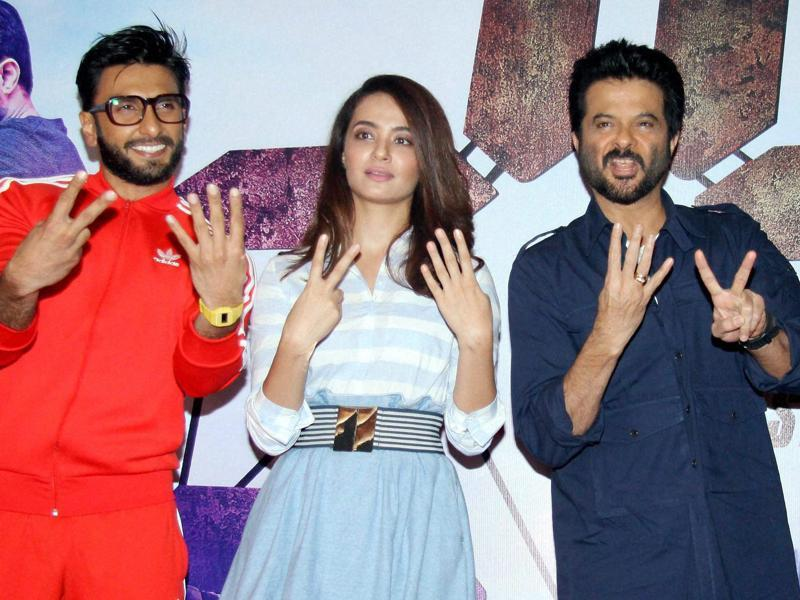 Ranveer Singh, Surveen Chawla and Anil Kapoor flash the number 6. Why? Watch the new season, which began on Friday. (PTI)