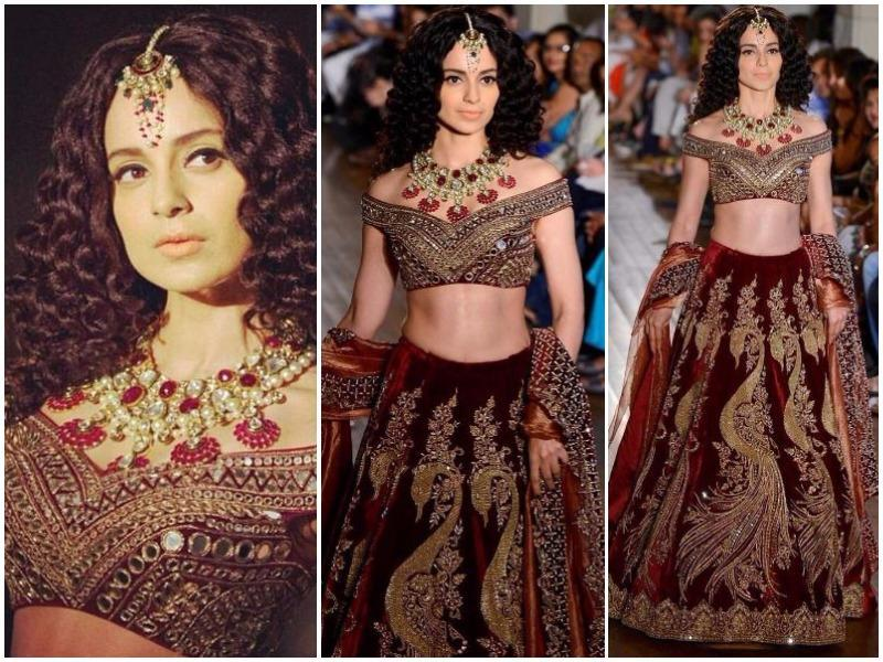 Day 5 of India Couture Week 2016 saw an ostentatious display of bridalwear, with couturiers Manav Gangwani and Rohit Bal presenting Mughal and Czar-inspired collection, respectively. Actor Kangana Ranaut turned showstopper for Gangwani and looked stunning in an off-the-shoulder blouse with mirrorwork.