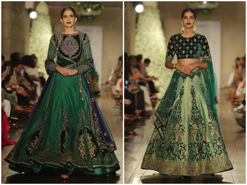 Manav's inspiration for this collection originated in the intricacy of the Mughal era and the Royal Age. (Rajessh Kashyap/HT Photo)