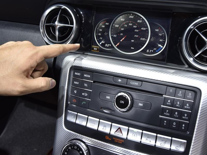 The Times of India says the car comes with blind-spot assist, active brake assist, a 7-inch touchscreen infotainment system and Bluetooth connectivity. (Sanjeev Verma/ht photo)