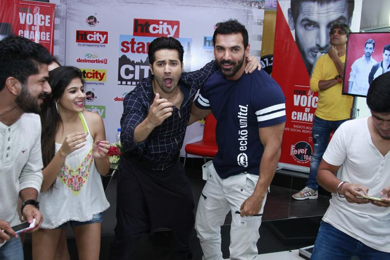Varun and John are at it, yet again. (Photo: Waseem Gashroo/Hindustan Times)