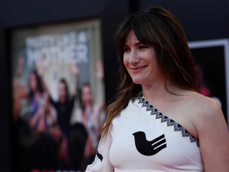 Kathryn Hahn poses at the premiere of Bad Moms in Los Angeles. (REUTERS)