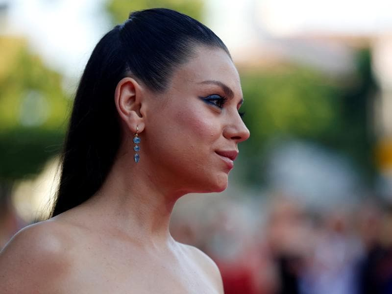 Mila Kunis poses at the premiere of Bad Moms in Los Angeles. (REUTERS)