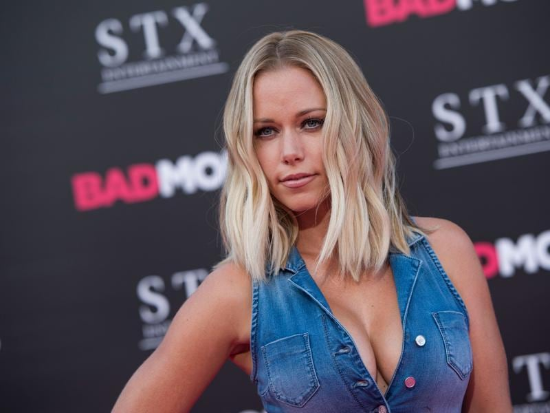 TV personality Kendra Wilkinson attends the Los Angeles Premiere of Bad Moms. (AFP)