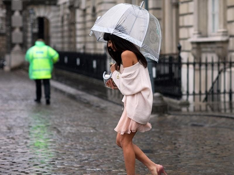 To show just how stylish you can look on a rainy day, we've rounded up some of our favourite rain-appropriate outfits.