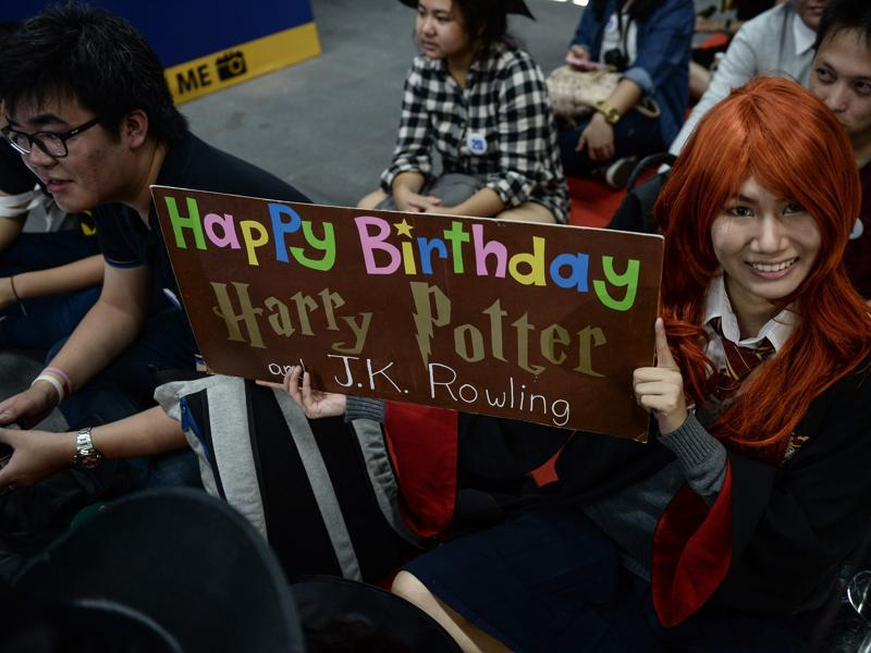 A cosplayer dressed as Ginny Weasley at the launch of the book in Bangkok. (AFP)