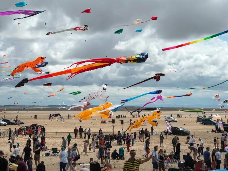 The fifth edition of St Annes Kite Festival was organised this year on July 30 and 31 in Lytham St Annes, north-west England. (AFP)