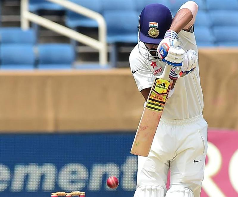 Rahul looked unflappable against pace and bounce, employing the short-arm jab, so reminiscent of Dravid, to drop the ball near his feet for a quick single when the boundaries were not coming. He ran 42 singles during the course of the innings. (AFP)