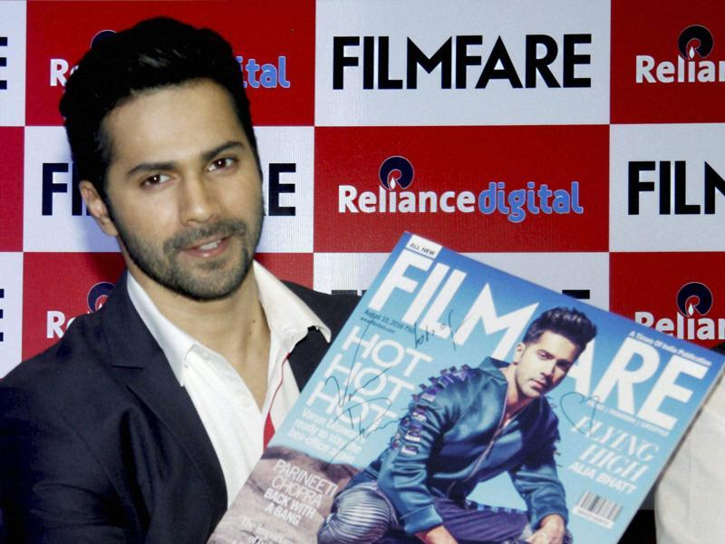 Bollywood actor Varun Dhawan at a promotional event for a magazine in Mumbai. (PTI)