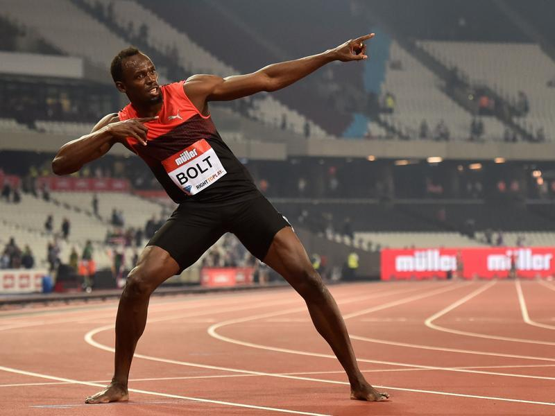In between winning his first Olympic 100m title at Beijing 2008 and his 11th world gold – in the 4x100m relay in the Chinese capital seven years later – Usain Bolt pocketed another 15 Olympic and world championship gold medals.  (AFP Photo)